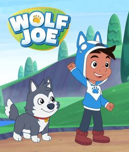 Wolf Joe and Smudge the puppy