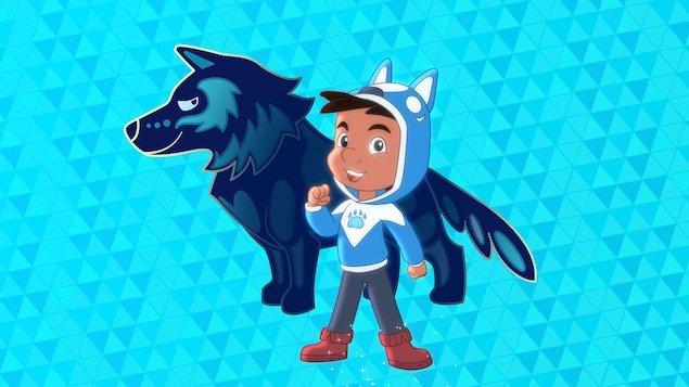 Wolf Joe with his spirit wolf